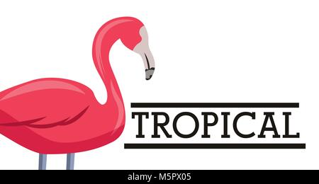tropical leaves animal card - Stock Photo
