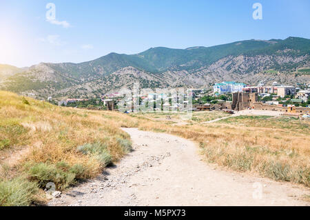 Landscape, Sudak city view from Genoese Fortress, places - Stock Photo
