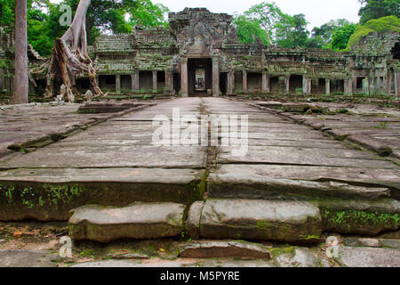Angkor Wat, a UN Heritage Site in Cambodia. Made famous in the Movie Lara Croft: Tomb Raider. - Stock Photo