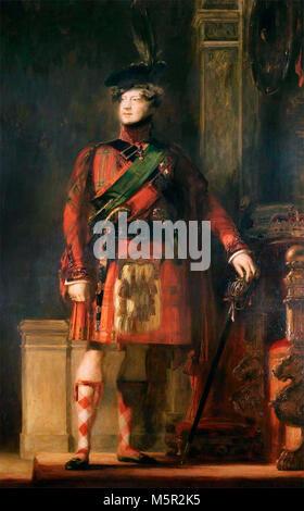 Portrait of George IV of the United Kingdom - King George IV in kilt, David Wilkie - Stock Photo