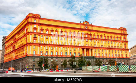Moscow, Russian Federation - August 27, 2017 :  -  Lubyanka is the famous name for the headquarters of the FSB and - Stock Photo