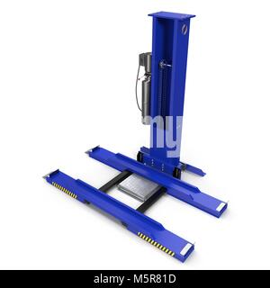 Car repair lift isolated on white. 3D illustration - Stock Photo