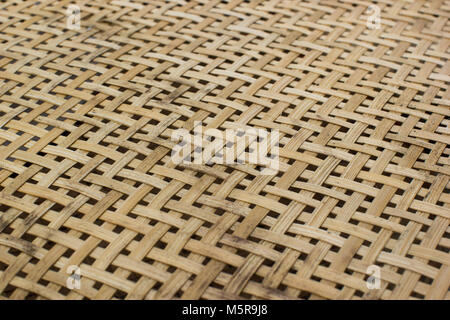 Handmade bamboo weave pattern texture. Abstract background from low angle view. - Stock Photo