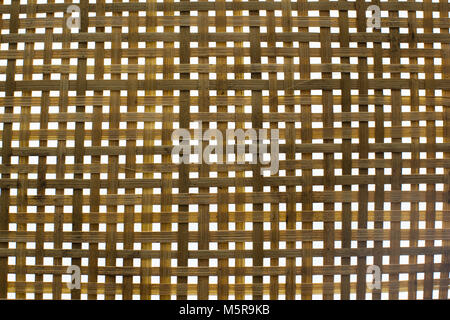 Handmade bamboo weave pattern texture. Abstract background. - Stock Photo