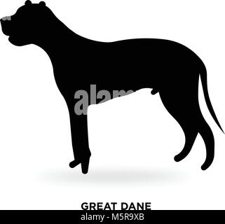 great dane silhouette - Stock Photo