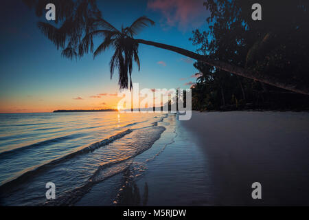 Tropical beach in Punta Cana, Dominican Republic - Stock Photo