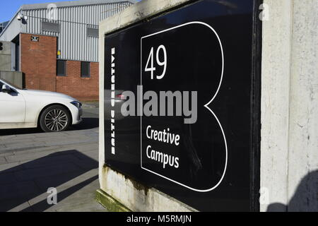 Creative space units on Jamaica Street, in the cutting-edge Baltic Triangle, in Liverpool, on Merseyside, in NW - Stock Photo