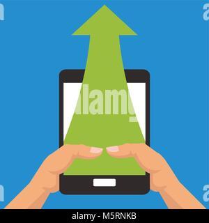 Business growth design , vector illustration - Stock Photo