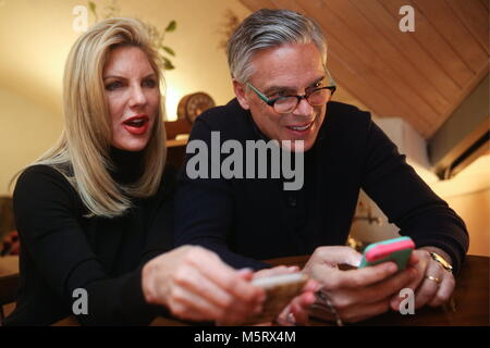 Kazan, Russia. 25th Feb, 2018. KAZAN, RUSSIA - FEBRUARY 25, 2018: US Ambassador to Russia Jon Huntsman with wife - Stock Photo