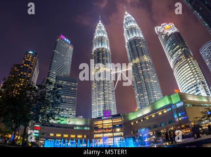 Kuala Lumpur - Petronas Towers KLCC Park - Malaysia - Stock Photo