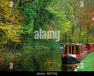 On the Monmouthshire and Brecon Canal, near Llangynidr, west of Crickhowell, Powys - Stock Photo