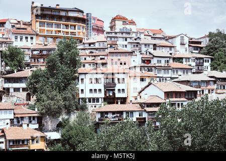 Residential area in the city of Veliko Tarnovo, Bulgaria - Stock Photo