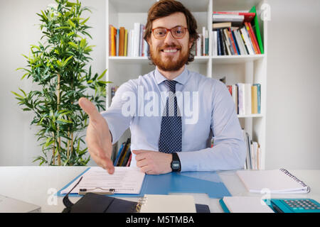 Successful businessman ready to sign a contract - Stock Photo