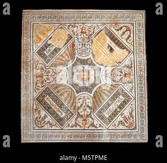 Roman mosaics from the north African Roman province of Africanus . Bardo Museum, Tunis, Tunisia. - Stock Photo