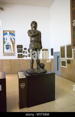 BUENOS AIRES, ARGENTINA - JANUARY 20, 2018: Maradona statue from Museo de la Pasion Boquense in La Boca, Buenos - Stock Photo