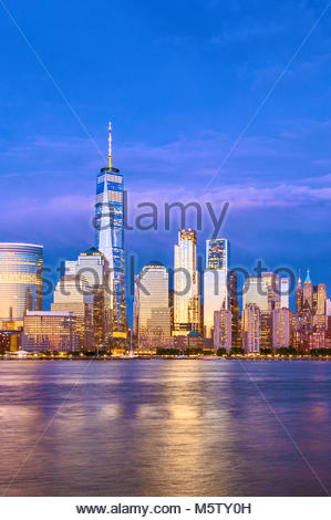 New York Skyline One World Trade Center WTC Freedom Tower - Stock Photo