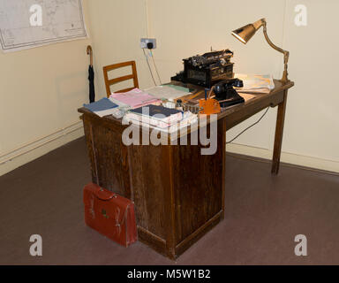 Alan Turing's Desk, Bletchley Park - Stock Photo