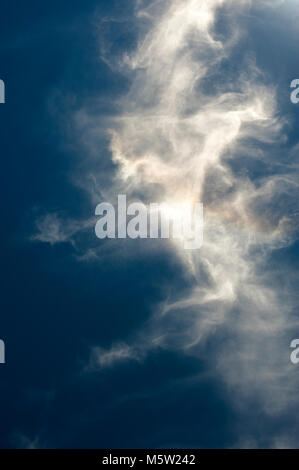 Cirrus clouds with nature patterns and abstract shapes - Stock Photo