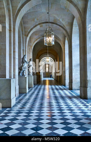 VERSAILLES, FRANCE - FEBRUARY 14, 2018: Interiors and details of the royal apartments of Versailles. Versailles - Stock Photo