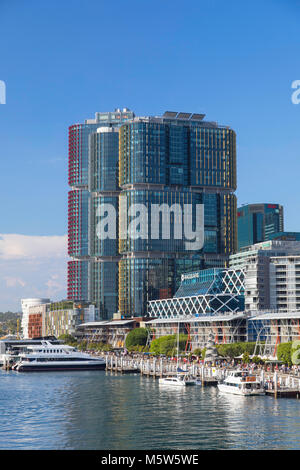 International Towers Sydney in Barangaroo, Darling Harbour, Sydney, New South Wales, Australia - Stock Photo