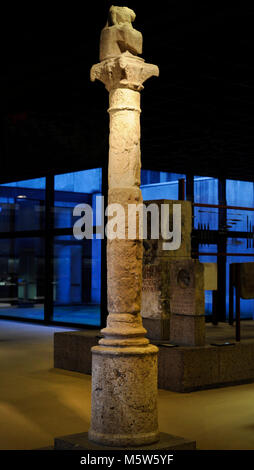 Votive column dedicated to God Jupiter, typical of the provinces of Gaul and Germania. Probably imitates an existing - Stock Photo