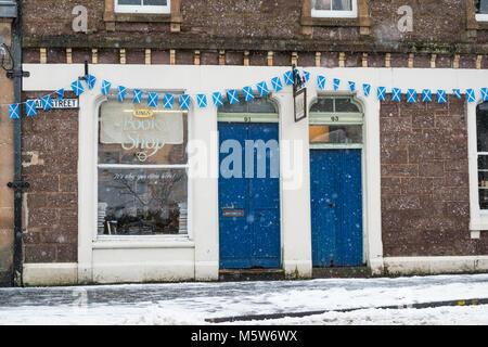 Antiquarian and second hand bookshop - Kings Bookshop, Callander, Scotland, UK - Stock Photo