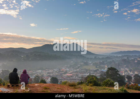 Kalaw: view to Kalaw, , Shan State, Myanmar (Burma) - Stock Photo
