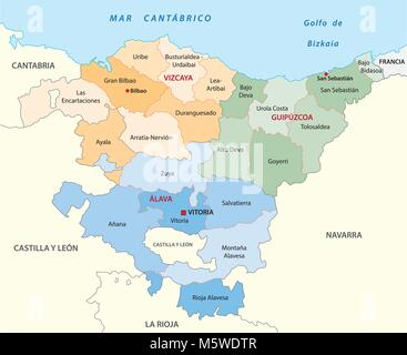 Vector map of the autonomous community of La Rioja Spain Elements