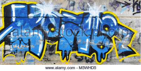Graffiti on the Walls of the City - Stock Photo