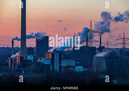 RWE waste incineration plant, Essen, Germany, - Stock Photo