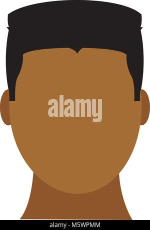 avatar man head with hairstyle and faceless - Stock Photo