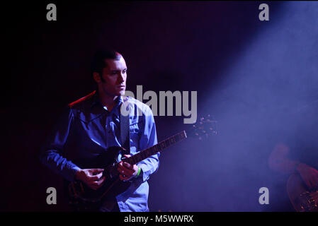 BARCELONA - FEB 15: Wand (band) perform in concert at Apolo venue on February 15, 2018 in Barcelona, Spain. - Stock Photo
