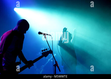 BARCELONA - FEB 15: Dwarves (band) perform in concert at Apolo venue on February 15, 2018 in Barcelona, Spain. - Stock Photo