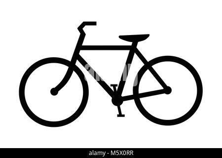 Black bicycle silhouette' - Stock Photo