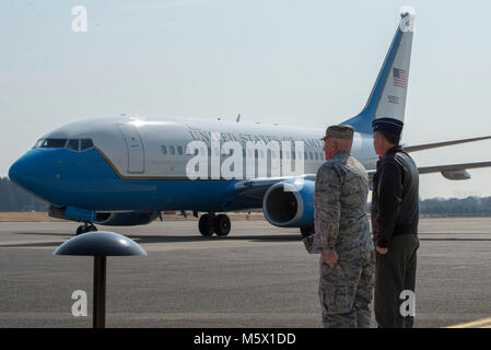 Lt. Gen. Jerry P. Martinez, United States Forces Japan and 5th Air Force commander, and Col. Kenneth E. Moss, 374th - Stock Photo
