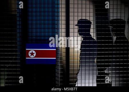 South Korea. 26th Feb, 2018. GANGWON, SOUTH KOREA - FEBRUARY 26, 2018: Inside the Museum of the Korean Demilitarized - Stock Photo