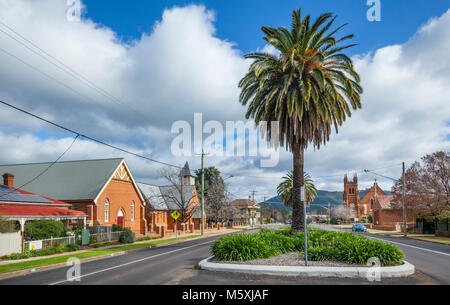 Australia, inland New South Wales, Wellington, view of Warne Street - Stock Photo