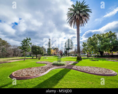 Australia, inland New South Wales, Wellington, view of Cameron Park - Stock Photo