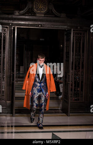 Mens collection at Malan Breton AW18 show during the London Fashion Week 2018 - Stock Photo