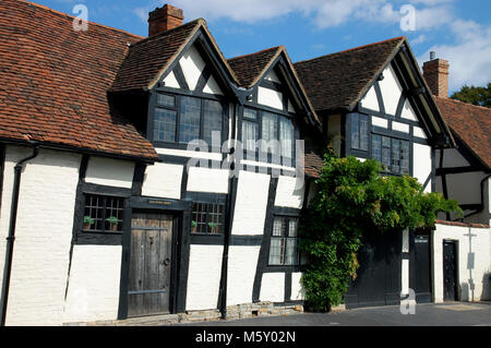 Old Town Croft in the city of Stratford Upon Avon in England - Stock Photo