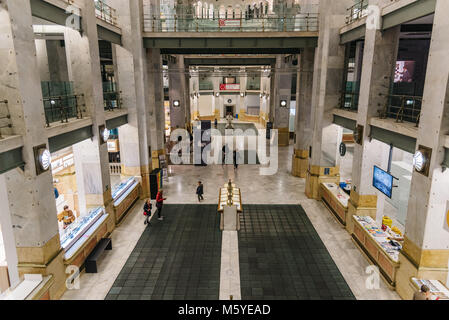 Madrid, Spain - November 3, 2017:  Interior view of Centro Cibeles in the new City Hall of Madrid. Located in the - Stock Photo