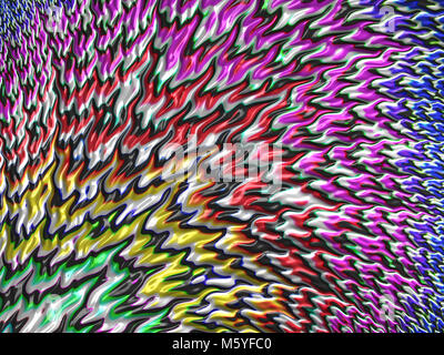 abstract bright blurred fractal background with intermingling colors - Stock Photo