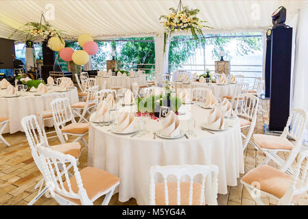 Elegant Wedding Reception Area Ready For Guests The Bridal Party