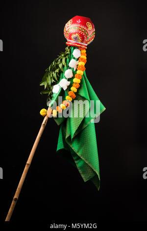 Gudi Padwa or ugadi is a hindu New Year celebrated across India - Stock Photo
