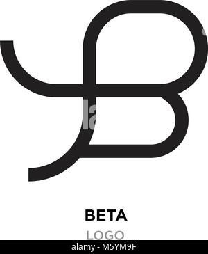 beta logo, flat vector sign B in modern style - Stock Photo