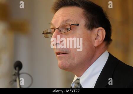 Jean-Noel Vioud, General Attorney at Klaus Barbie Trial talks in Lyon, France - Stock Photo