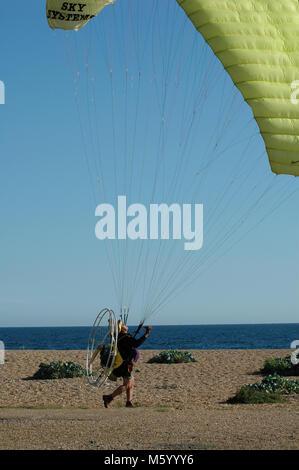 Motor Paraglider - Stock Photo