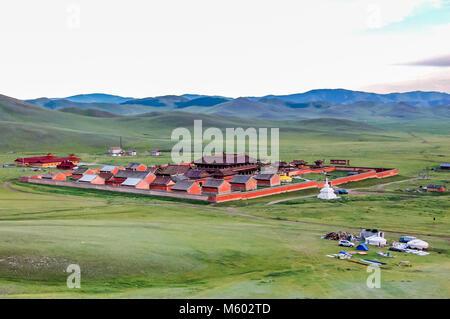 Amarbayasgalant Monastery, Mongolia -  July 16, 2010: Amarbayasgalant Monastery, one of the three largest Buddhist - Stock Photo