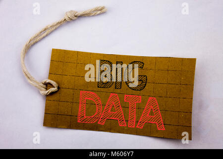 Handwriting Announcement text showing Big Data. Business concept for online sale Digital Business Analysis written - Stock Photo