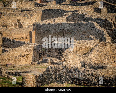 Ruins at Pompeii, Italy. - Stock Photo